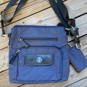 Blue Nylon Giani Bernini Crossbody Handbag